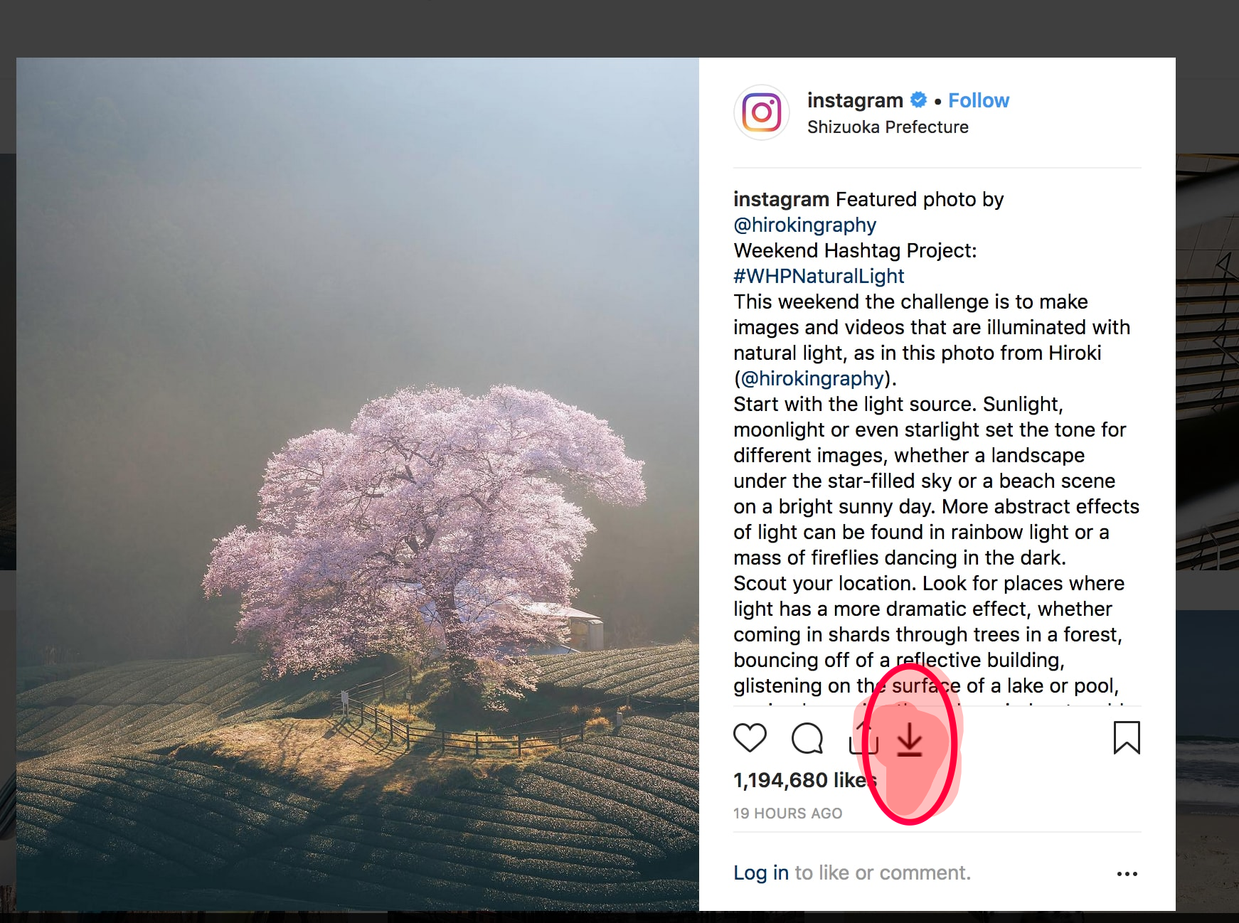 Firefox and chrome addon to download instagram photo/video